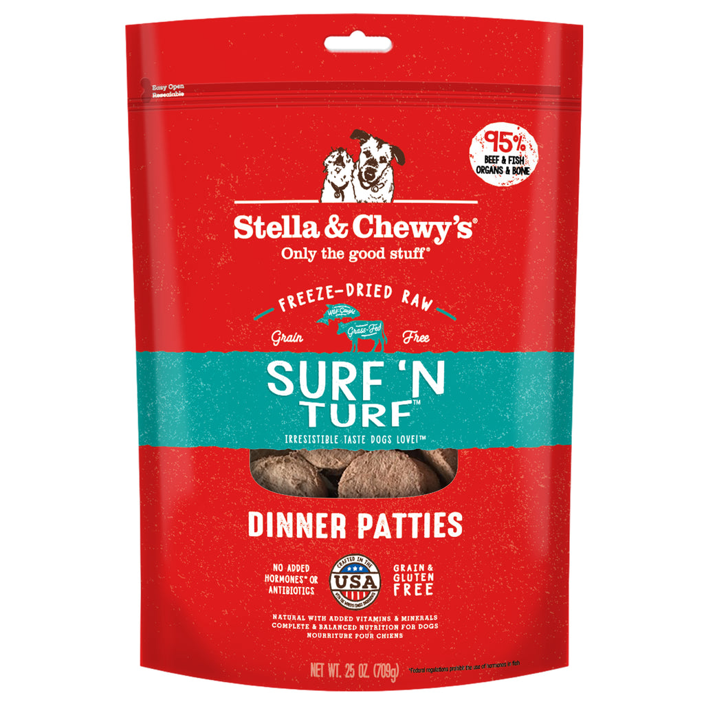 Stella & Chewy's Freeze Dried Surf N Turf Dinner Dog Food