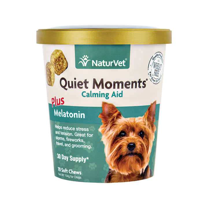 NaturVet Quit Moments plus Melatonin - 70 soft chews