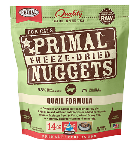 Primal Freeze Dried Quail Formula Food for Cats