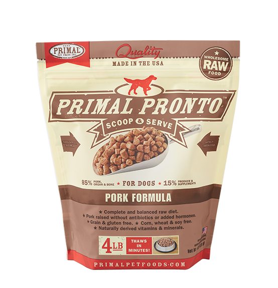 Primal Pronto Scoop & Serve Frozen Raw Canine Pork Formula Dog Food