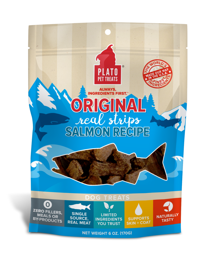 PLATO Orijinal Real Strips Salmon Dog Treats