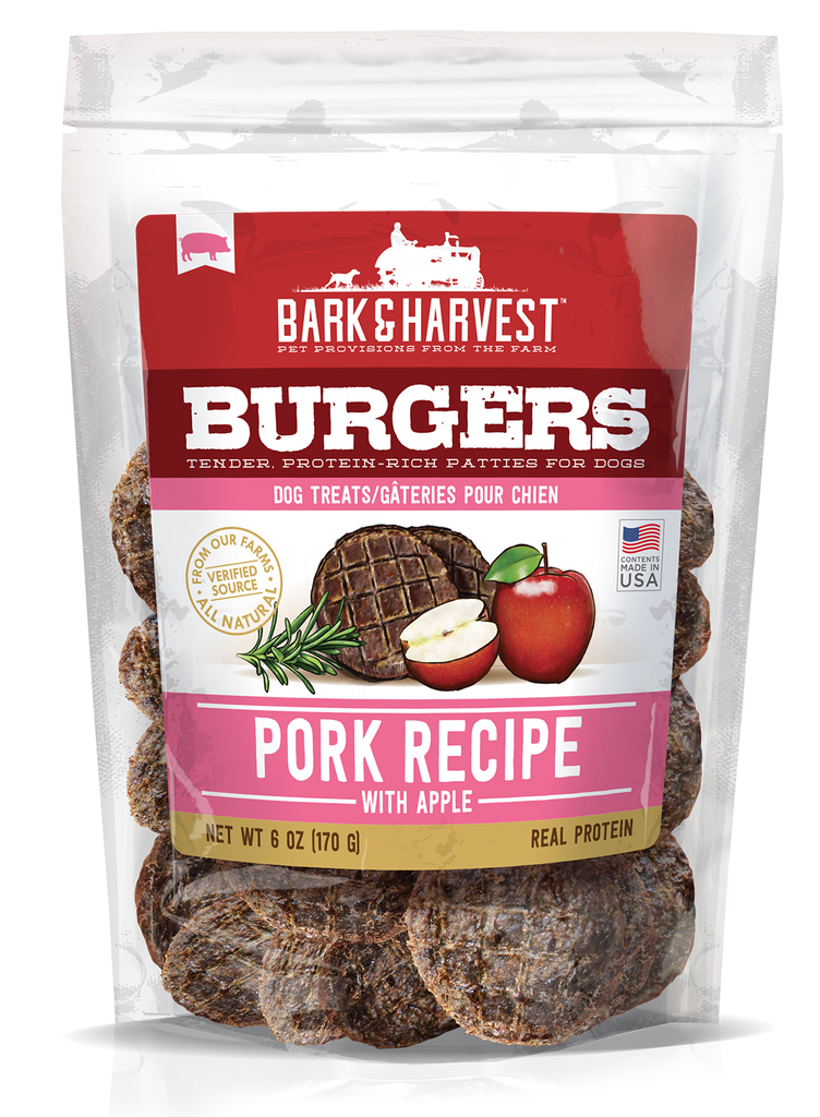 Superior Farms Bark & Harvest Pork Burgers with Apple Dog Treats - 6 oz