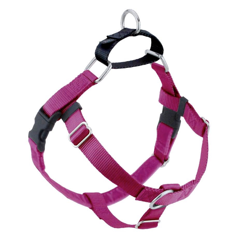 2 Hounds Design Freedom No-Pull Dog Harness - Rasberry