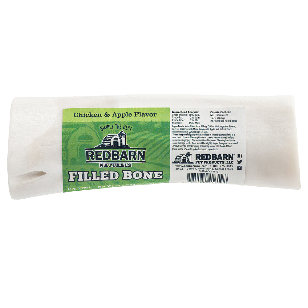 RedBarn Naturals Filled Bone Chicken & Apple Flavor - Large 8oz