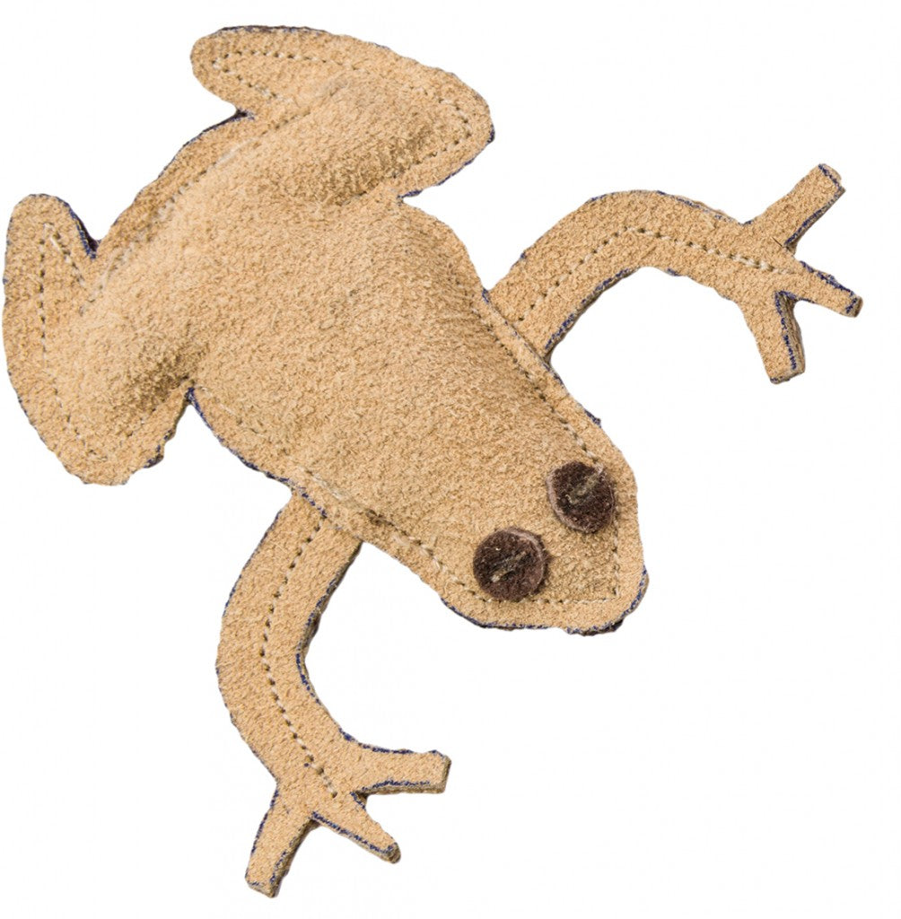 SPOT DURA-FUSED Leather Cat Toy - Frog