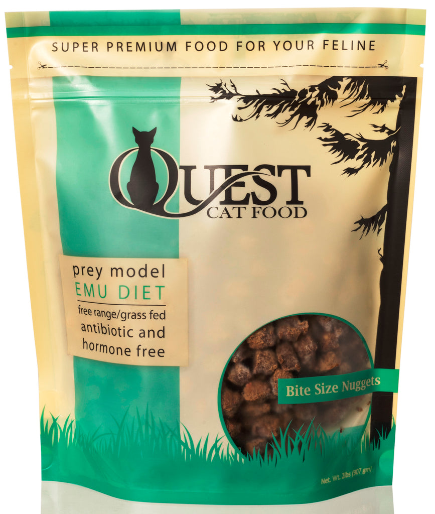 Steve's Real Food Quest Frozen Raw Emu Diet for Cats - 2 lbs