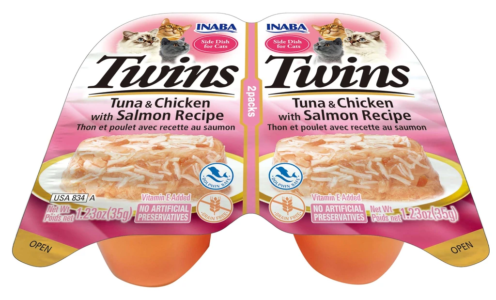 INABA Twins for Cats - Tuna & Chicken with Salmon Recipe