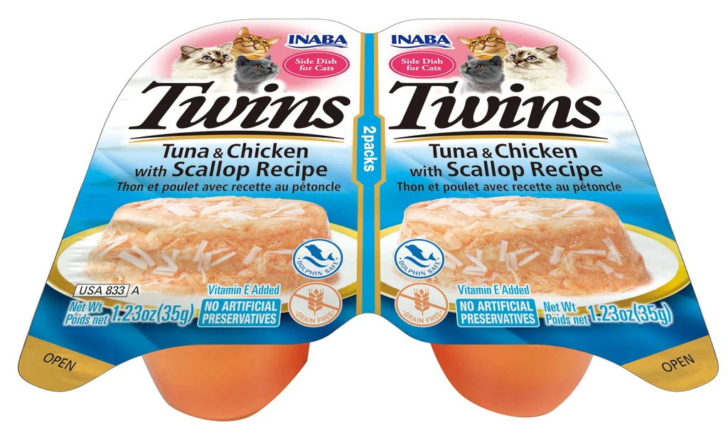 INABA Twins for Cats - Tuna & Chicken with Scallop Recipe