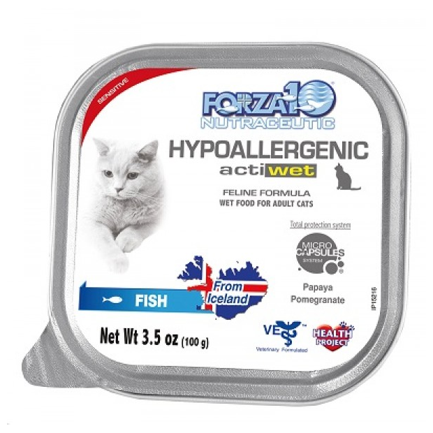 Forza 10 Hypoallergenic Actiwet Fish Cat Food - 3.5-oz