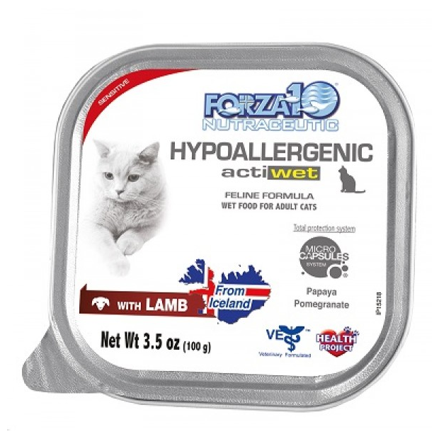 Forza 10 Hypoallergenic Actiwet Lamb Cat Food - 3.5-oz