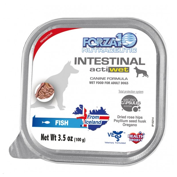 Forza 10 INTESTINAL Actiwet Fish Dog Food - 3.5-oz