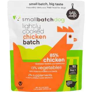 SmallBatch Frozen Lightly Cooked Chicken Batch for Dogs - 2-lbs