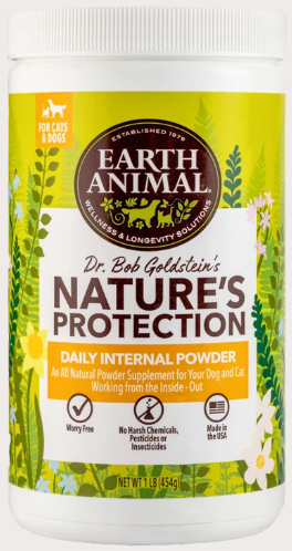 Earth Animal Nature's Protection Daily Internal Powder for Dog & Cat - 1-lb