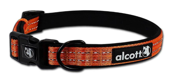 Alcott Adventure Padded & Reflective Nylon Dog Collars