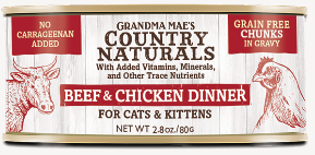Grandma Mae's Country Naturals Beef & Chicken Dinner for Cat & Kittens - 2.8-oz