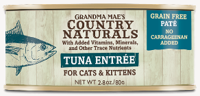 Grandma Mae's Country Naturals Tuna Entree for Cat & Kittens - 2.8-oz