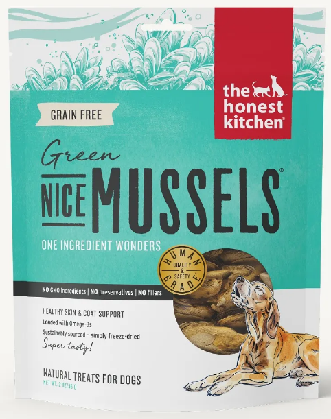 the honest kitchen Nice Mussels Green Mussel Dog Treat - 2.0-oz