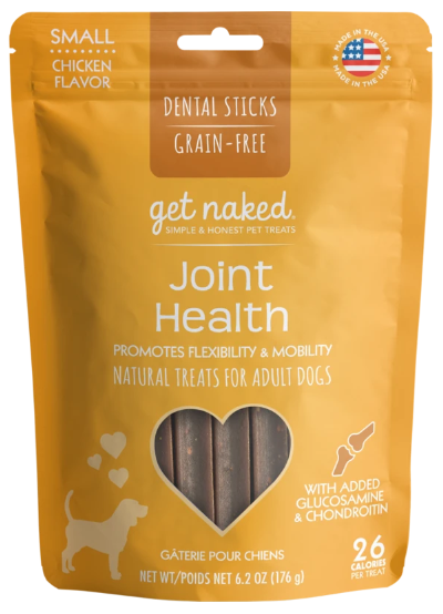 Get Naked Grain Free Small Joint Health Dental Sticks Chicken Flavor - 6.2 oz