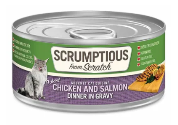 Scrumptious from Scratch Chicken and Salmon Dinner in Gravy Cat Food - 2.8-oz