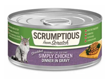 Scrumptious from Scratch Simply Chicken Dinner in Gravy Cat Food - 2.8-oz