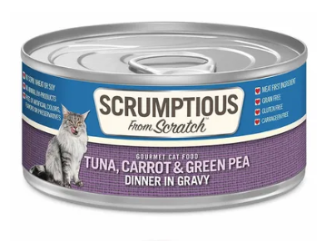 Scrumptious from Scratch Tuna, Carrot and Green Pea Dinner in Gravy Cat Food - 2.8-oz