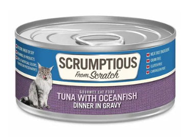 Scrumptious from Scratch Tuna with Oceanfish Dinner in Gravy Cat Food - 2.8-oz