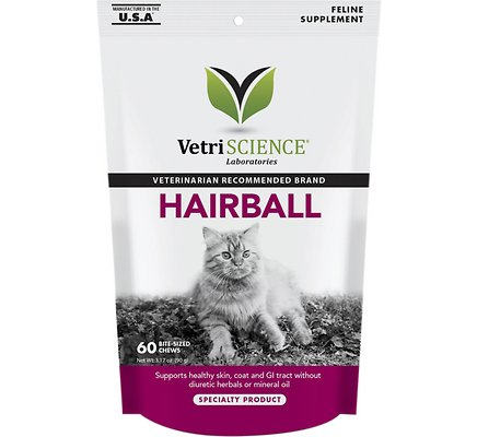 VetriSCIENCE Hairball - 60 Bite Sized Chews