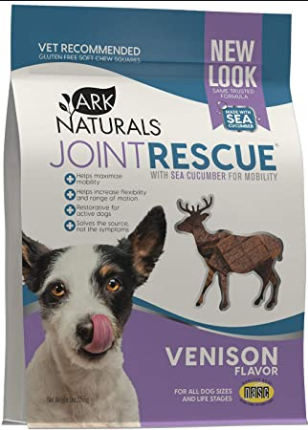 Ark Naturals Sea Mobility Joint Rescue Venison Functional Dog Treat - 9 oz.