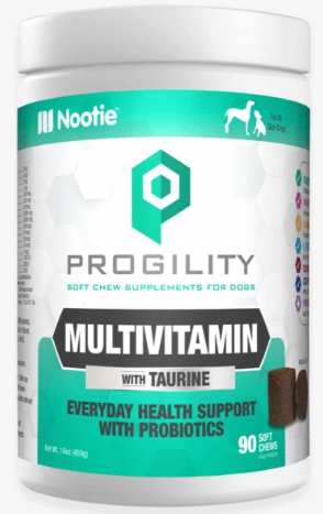 Nootie Progility MultiVitamin with Taurine Soft Chew Supplement for Dogs - 90-chews