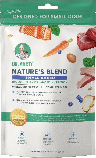 Dr. Marty Nature's Blend Small Breed Freeze-Dried Raw Dog Food - 16-oz