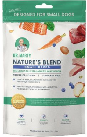 Dr. Marty Nature's Blend Small Breed Freeze-Dried Raw Dog Food - 6-oz