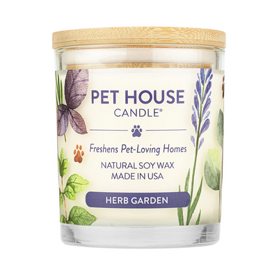 Pet House Candle Herb Garden Natural Soy Wax Candle - 9-oz