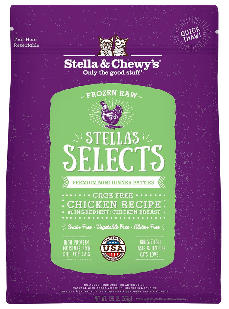 Stella & Chewy's Selects Frozen Chicken Cat Food - 1 lb
