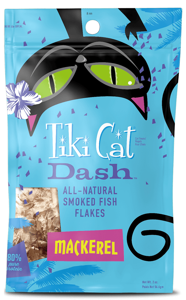Tiki Cat Dash All Natural Smoked Mackerel Flakes Cat Treat - 2 oz