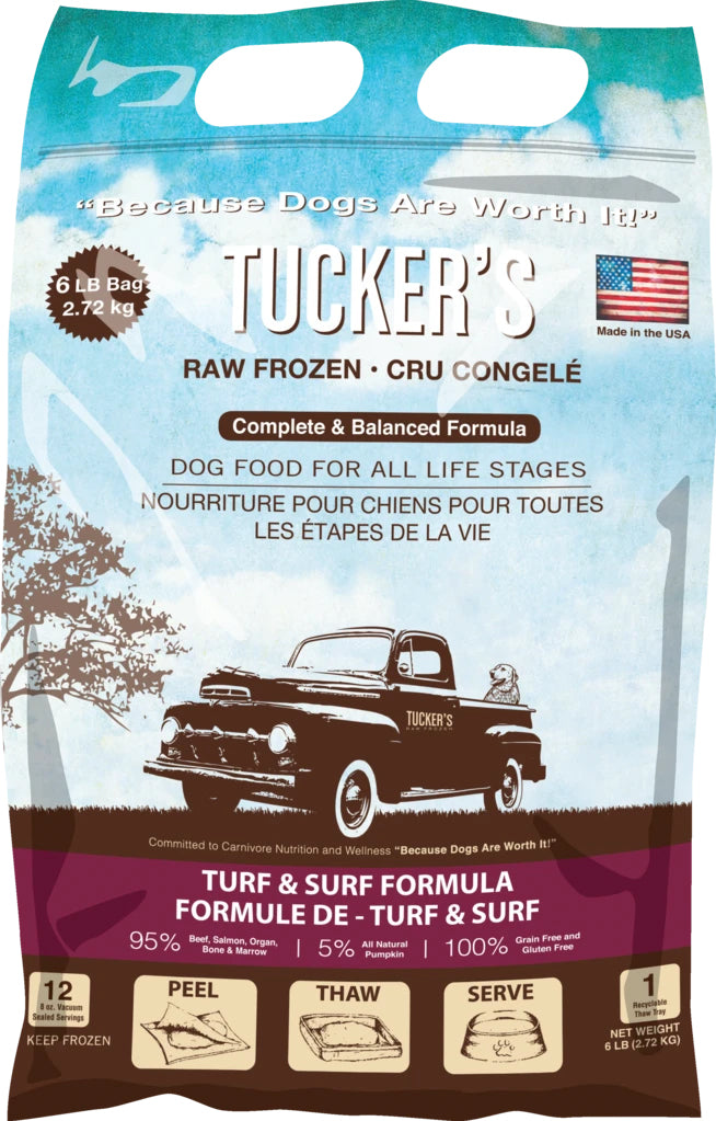 Tucker's Frozen Raw Turf & Surf Pumpkin Complete and Balanced Dog Food