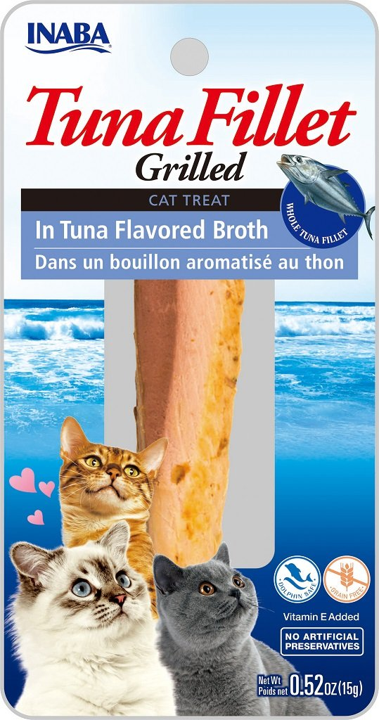INABA Ciao Grilled Tuna Fillet in Tuna Flavored Broth Cat Treat - 0.5 oz