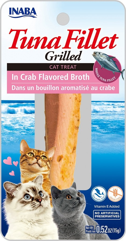 INABA Ciao Grilled Tuna Fillet in Crab Flavored Broth Cat Treat - 0.52 oz