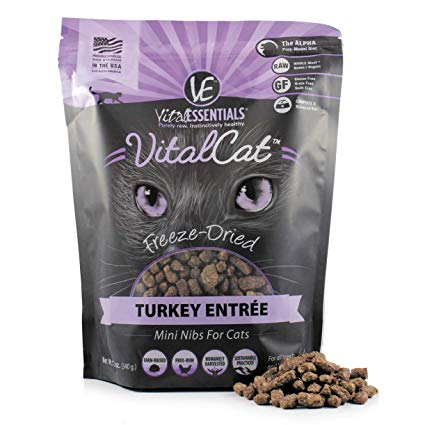 Vital Esstentials Vital Cat Freeze Dried Raw Turkey Entree Mini Nibs for Cats - 12 oz.