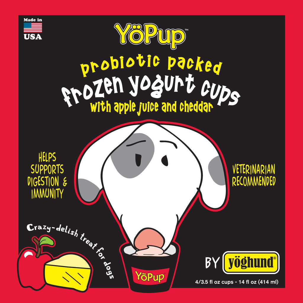 Yoghund YoPup Frozen Apple & Cheddar Yogurt for Dogs
