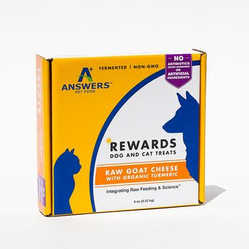 Answers Raw Frozen Goat Milk Cheese Treat with Tumeric - 8 oz