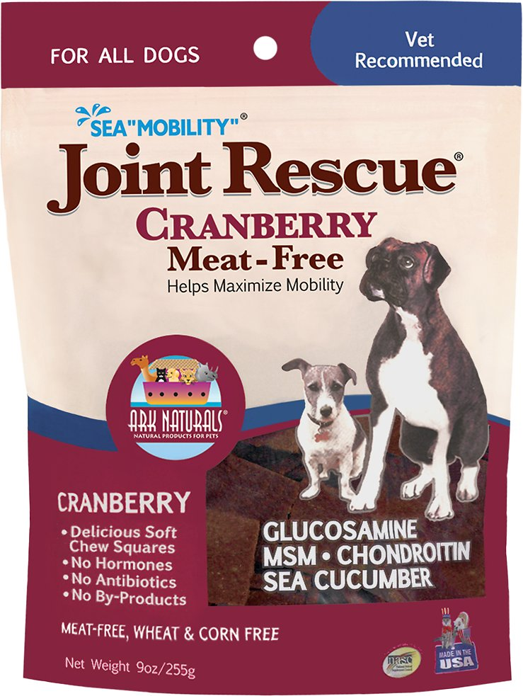 Ark Naturals Sea Mobility Joint Rescue Cranberry (Meat Free) Functional Dog Treat - 9 oz.