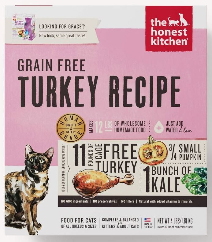 the honest kitchen Dehydrated - Grain Free Turkey Recipe (Grace) Cat Food