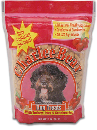 Charlie Bear Turkey Liver & Cranberry Dog Treat - 16 oz.