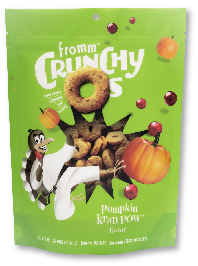 Fromm Crunchy O's Pumpkin Kran POW Dog Treats - 6 oz