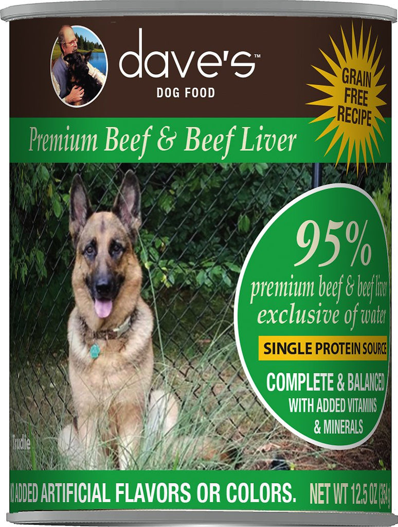 Dave's 95% Premium Canned Beef Dog Food - 13 oz