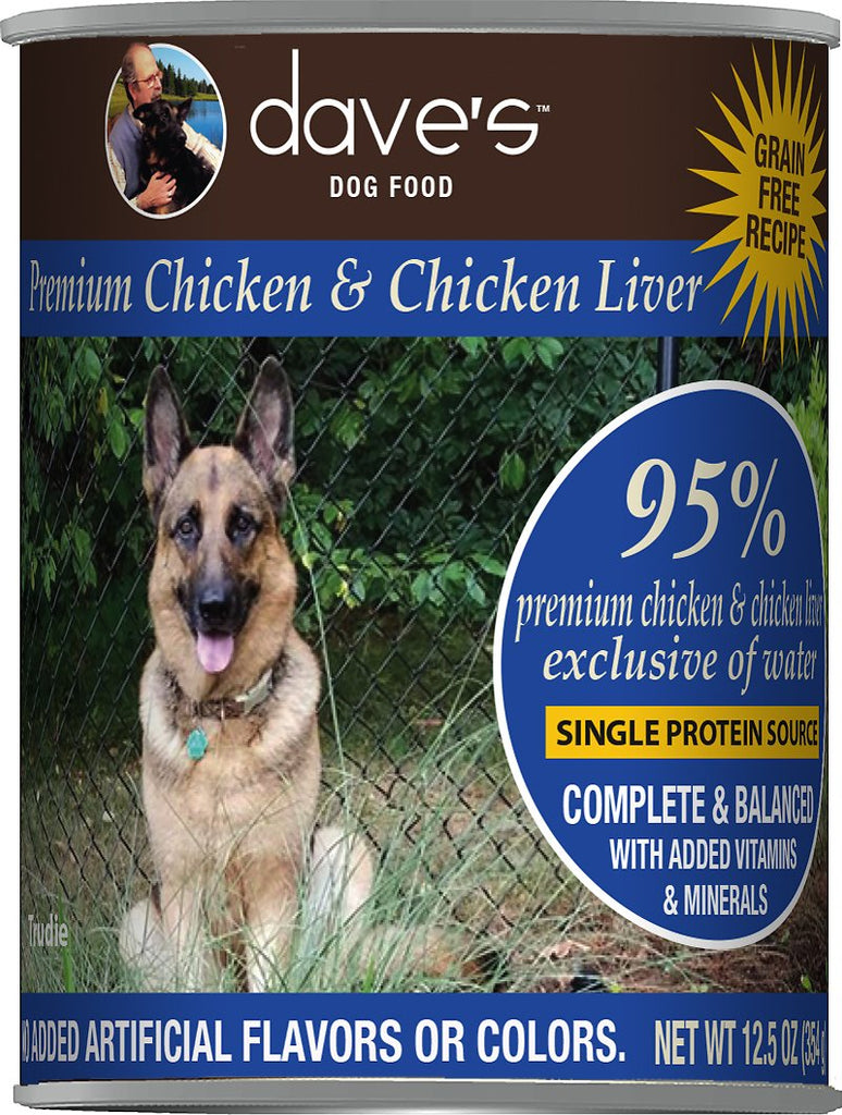 Dave's 95% Premium Canned Chicken Dog Food - 13 oz
