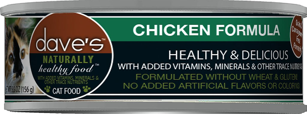 Dave's Naturally Healthy Grain Free Chicken Formula Cat Food - 5.5 oz.