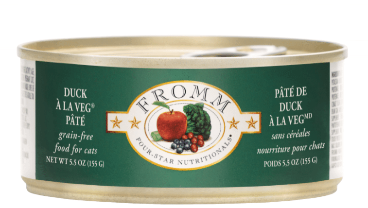 Fromm Duck A La Veg Pate Food for Cats - 5.5 oz.