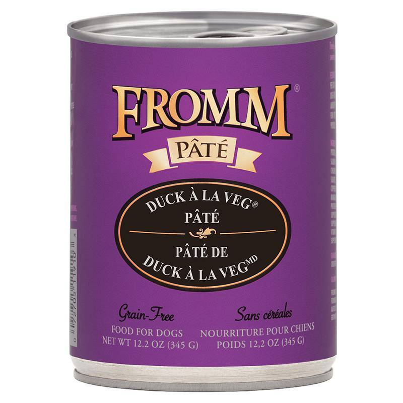 Fromm Duck A La Veg Pate Dog Food - 12.2 oz