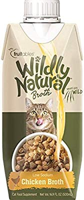 Fruitables Wildly Natural Chicken Broth for Cats - 16.9 oz